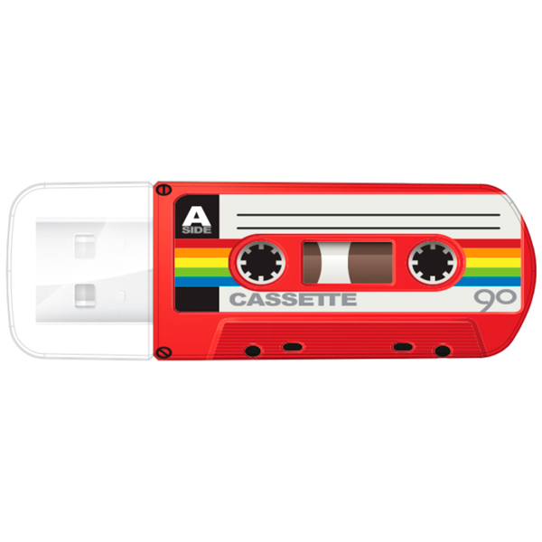 Флэш-память Verbatim (49392), 32 Gb, Mini Casette Edition, USB 2.0, Red