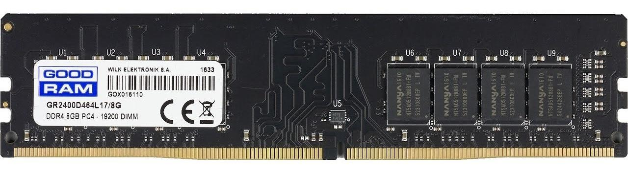 Модуль памяти DDR4 8 Gb PC4-19200 (2400MHz) GoodRam (GR2400D464L17/8G (12*)), CL17, 1.20V