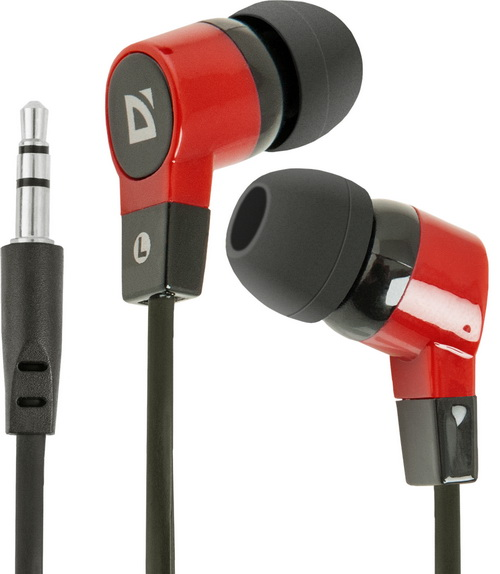 Наушники Defender Basic-619 (63619), 3,5mm, Black-Red