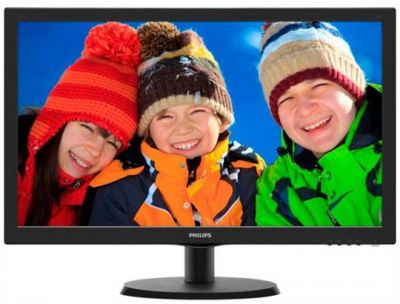 "Монитор TFT 22"" LED Philips 223V5LSB2 (223V5LSB2/62/10 (12*)), wide, Full HD, 5ms, контр. 1000:1, яр. 250 кд/м2, D-Sub, Black"