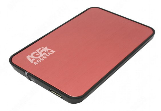 "Карман для жёсткого диска 2.5"" AgeStar 3UB 2A8 (3UB 2A8 Red), S-ATA to USB3.0, внешний, Red"
