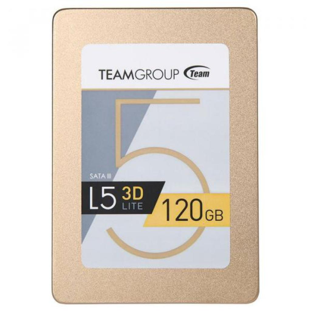 "SSD-накопитель 120 Gb Team L5 LITE 3D Gold (T253TD120G3C101 (12*)), S-ATAIII, 2.5"", Read up to 470 MB/s, Write up to 300 MB/s, TLC 3D V-NAND"