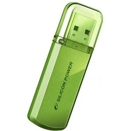 Флэш-память Silicon Power (SP032GBUF2101V1N), 32 Gb, Helios 101, USB 2.0, Green