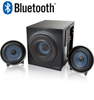 Колонки F&D 2.1 (W130BT Black-Blue), W130BT, дерево/пластик, 1*14W+2*14W, Bluetooth, Black-Blue