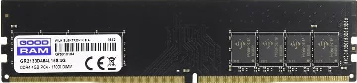 Модуль памяти DDR4 4 Gb PC4-17000 (2133MHz) GoodRam (GR2133D464L15S/4G), CL15, 1.20V