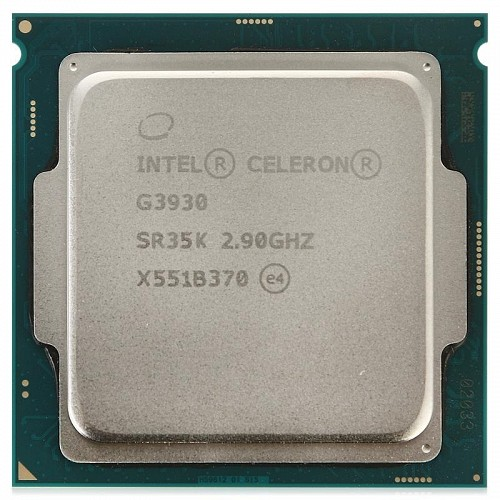 Процессор Intel Celeron Dual-Core G3930 (G3930 Tray (12*)), S1151, 2900 MHz, 2Mb, 8 GT/s, Skylake, 51W, GPU: Intel HD Graphics 510 (350 Mhz), Tray