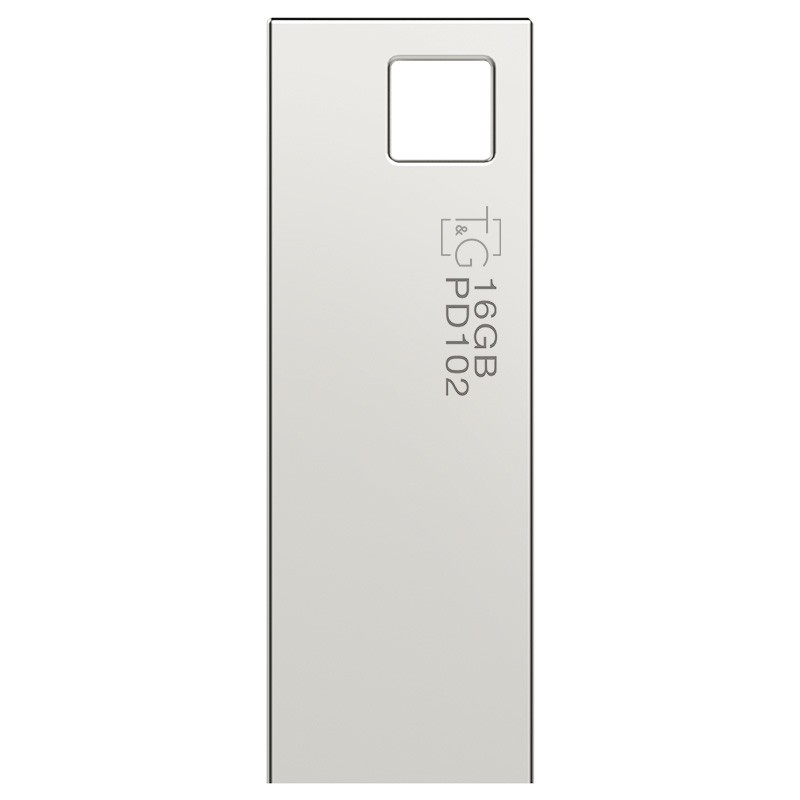 Флэш-память T&G (TG102-16G), 16 Gb, 102 Metal series, USB 2.0, Metallic