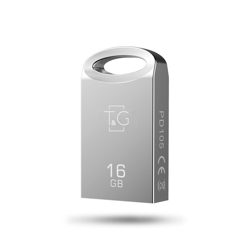 Флэш-память T&G (TG105-16G), 16 Gb, 105 Metal series, USB 2.0, Metallic