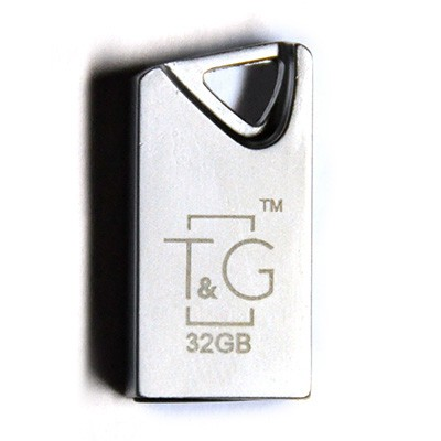 Флэш-память T&G (TG109-32G), 32 Gb, 109 Metal series, USB 2.0, Metallic