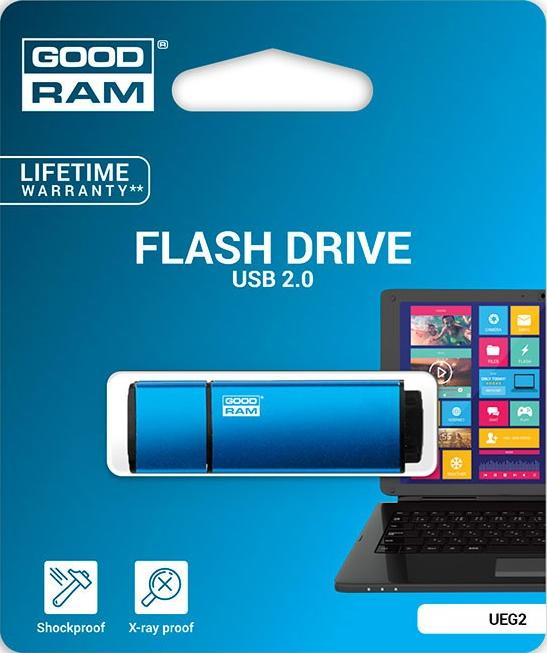 Флэш-память GoodRam (UEG2-0160B0R11), 16 Gb, Edge, USB 2.0, Blue