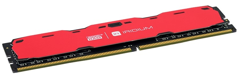 Модуль памяти DDR4 4 Gb PC4-19200 (2400MHz) GoodRam (IR-R2400D464L15S/4G (12*)), Iridium Red, CL15, 1.20V