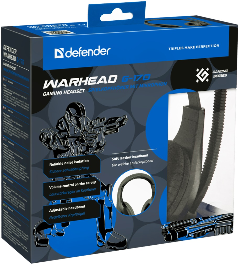 Гарнитура Defender Warhead G170 (G170), Black