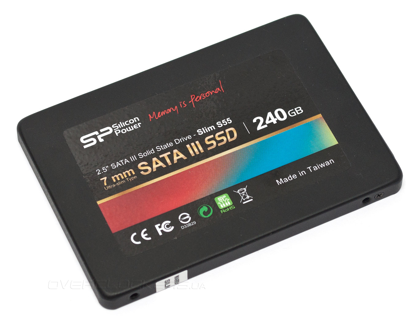 "SSD-накопитель 240 Gb Silicon Power Slim S55 (SP240GBSS3S55S25) (SP240GBSS3S55S25 (12*)), Phison PS3108-S8, S-ATAIII, 2.5"", Read up to 540 MB/s, Write up to 450 MB/s, TLC"