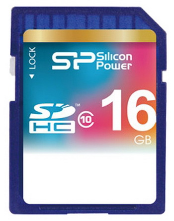 Карта памяти SDHC 16 Gb Silicon Power (SP016GBSDH010V10), class 10