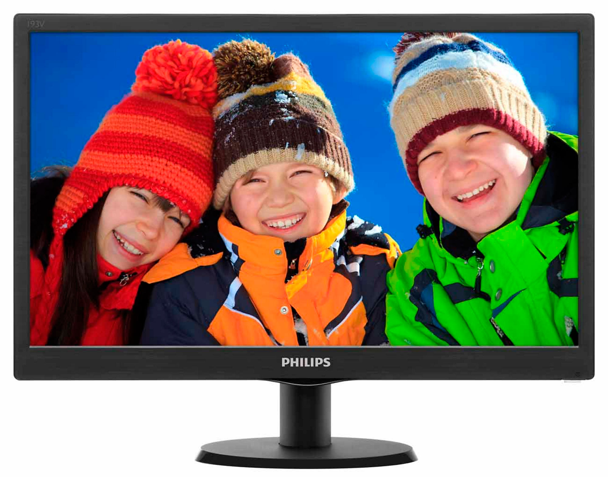 "Монитор TFT 19"" LED Philips 193V5LSB2 (193V5LSB2/10/62 (12*)), wide, 5ms, контр. 700:1, яр. 200 кд/м2, D-Sub, Black"