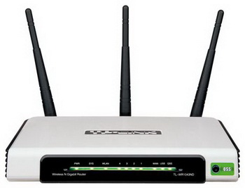Маршрутизатор TP-Link TL-WR1043ND (TL-WR1043ND), 300 Mbps, IEEE 802.11b/g/n, 1xWAN, 4xLAN 10/100/1000